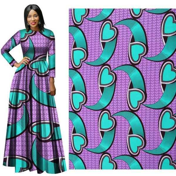 best selling new arrive Polyester Wax Prints Fabric Ankara Binta Real Wax High Quality 6 yards lot African Fabric for Party Dress