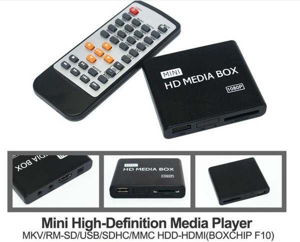 Yeni Mini Full HD Media Player Ile HDMI SD Kartları USB Disk Medya Kutusu Destek MKV H.264 RMVB WMV Mp3 Mp4 Autoplay HDD Medya Oynatıcı