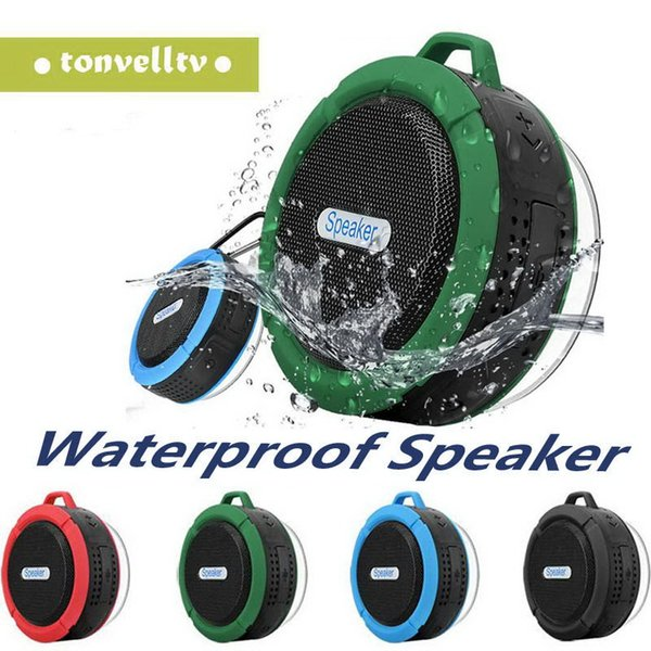 C6 Speaker Bluetooth Speaker Mini Potable Wireless Audio Player Waterproof Speaker Hook And Suction Cup Stereo Music Player High Quality