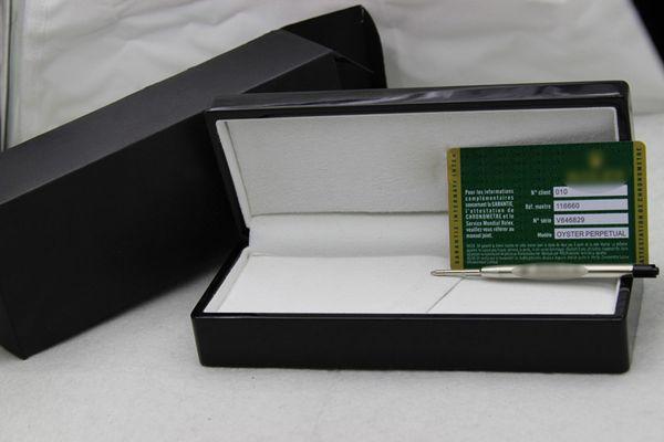 lujo rotulador Caja con tarjeta, caja de la pluma de alta calidad para la pluma rx, color negro caja de madera