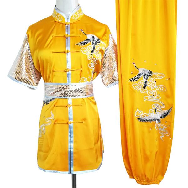 wushu chinês uniforme Kungfu roupas de artes marciais terno taolu veste roupa bordada quimono para homens, mulheres, menino menina miúdos adultos crianças