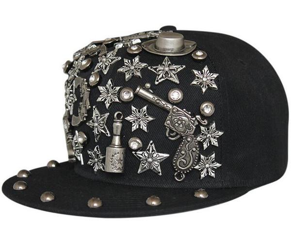 Cheap Baseball Cap Hats diamond rivet Hip Hop Hats Designer Snapbacks buy Cool caps snapback hats custom made top selling snapbacks