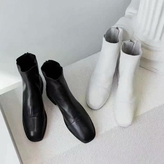 2019 Frauen Patent Kalbsleder Stiefel Martin Stiefeletten Designer Schuhe Luxus Schwarz Leder Ankle Cowboy Booties mit Box