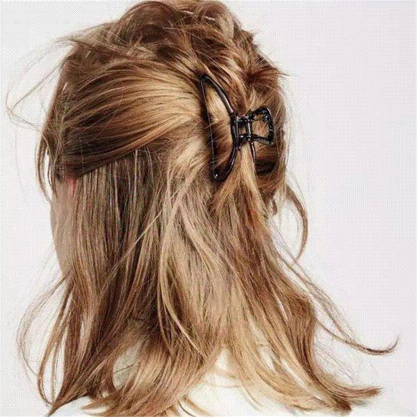 Damen große haarklaue schellen kleine haarspange schmetterling klaue schellen zubehör 8.16 großhandel haarspangen pins