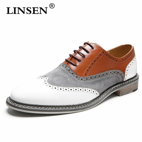 Scarpe da uomo traspiranti casual da uomo in morbida pelle di alta qualità. Scarpe da uomo d'affari traspiranti moda Oxford Business 38-48