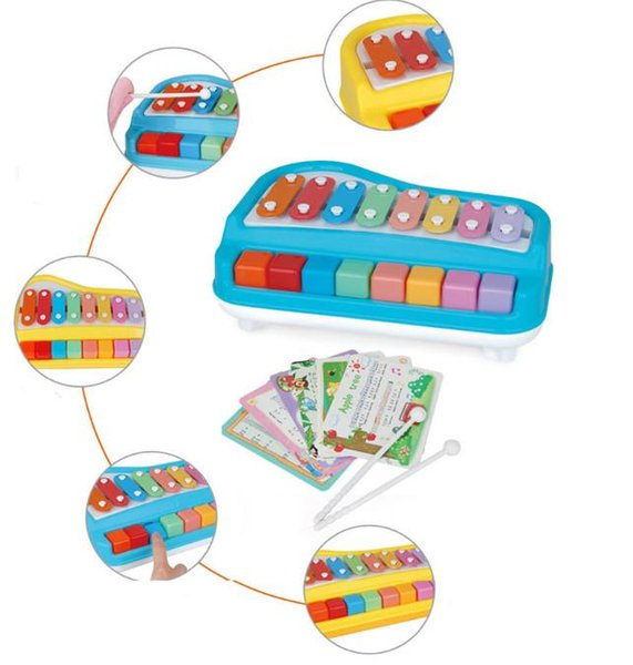 Baby Piano Toy Music Instruments For Kids Multifunctional Toddler Musical Toys For Children Xylophone Music Educational Learning