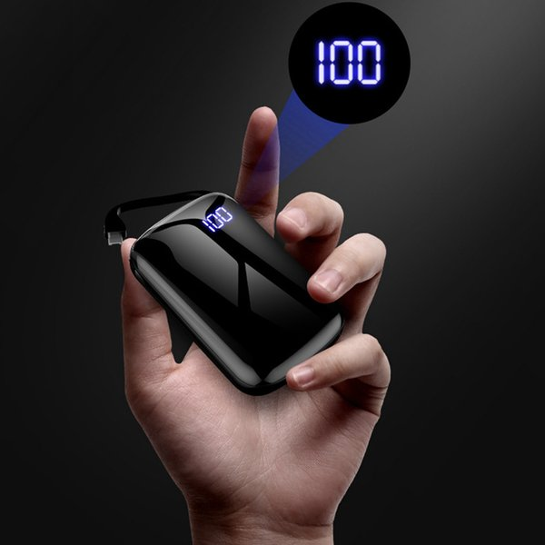 Ultra Thin Mini Portable Power Bank 10000mAh External Battery Charger Powerbank for iPhone XS XS Max XR Samsung Note 8 9 S9 S9Plus