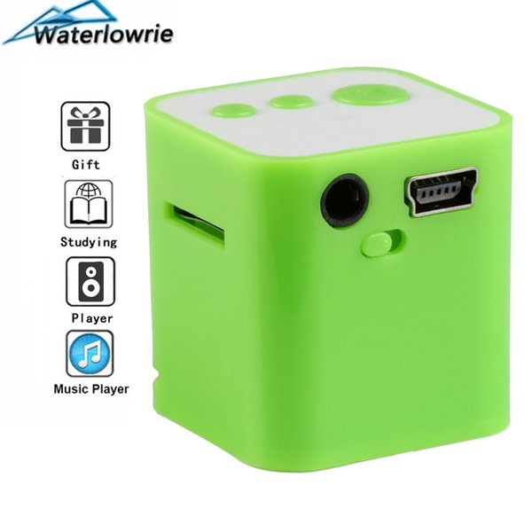 Waterlowrie Mini Music MP3 Player Portable MP3-Player walkman Built-in Speaker mp 3 Support 8G Micro SD/TF Card for Holiday Gift