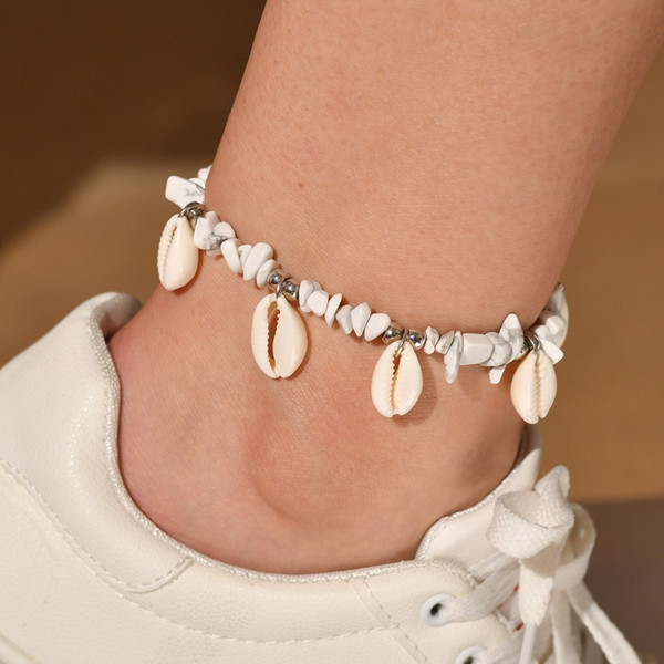 Women Shell Jewelry Accessories Popular Natural Shell Anklet Posimi Second Gravel Anklet Foot Ornaments pearl earrings, piercing,Pandora charms,summer sundress women,shell jewelry,abalone shell jewelry,sea shell jewelry,shell jewelry set,shell jewelry diy,cowrie shell jewelry,conch shell jewelry,women shell jewelry sets