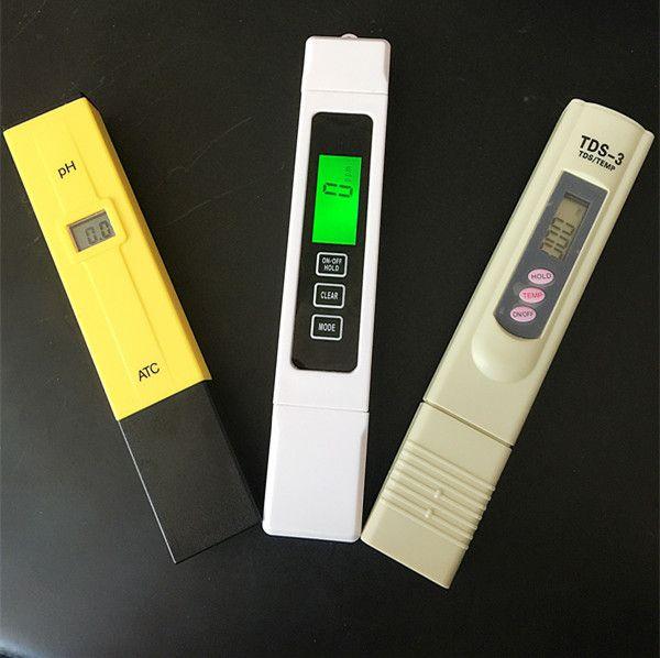 3 pcs / lot TDS EC 0-5000 ppm testeur, PH ATC / TDS calibrer par compteur TEMP de maintien, stylo numérique, surveiller la qualité de l'eau pour