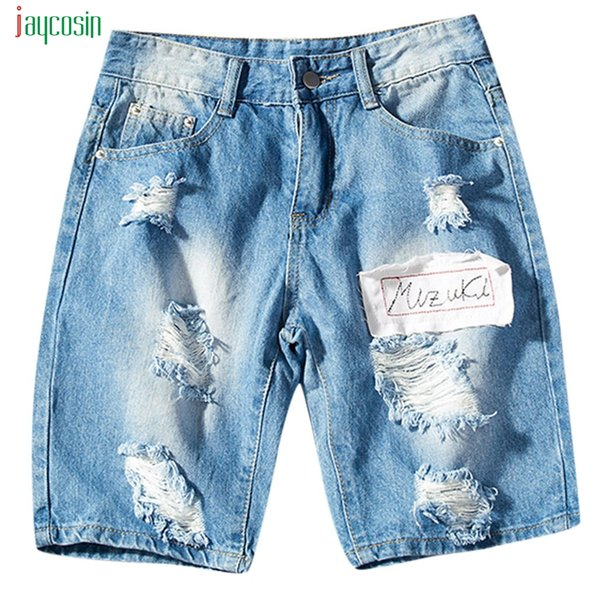 Jaycosin Men Summer Stretch Jeans Pants Shorts Male Plus Size Shorts With Pockets Fashion Pants Slim High Quality Denim Trousers