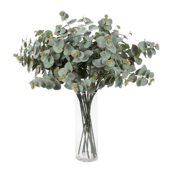 8Xartificial Eucalyptus Garland long Silver Dollar Feuille Feuillage Plantes Verdure Jardin Décor de mariage