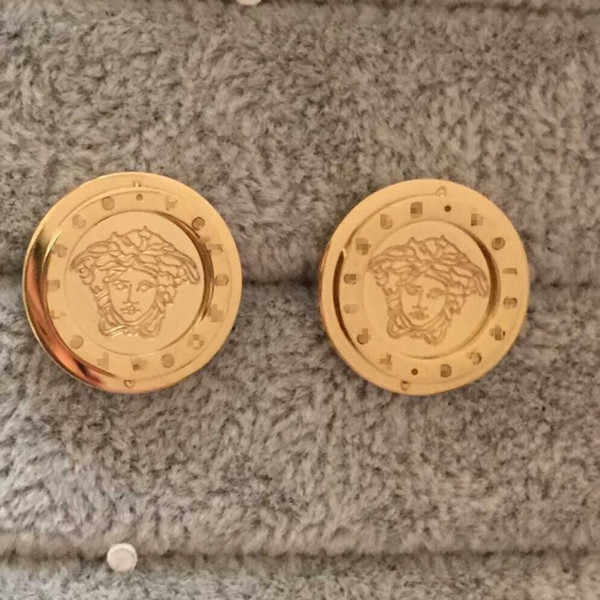 Monili di marca di alta qualità in acciaio inox oro argento rosa placcato oro grande cuore orecchini di design per uomo donna all'ingrosso