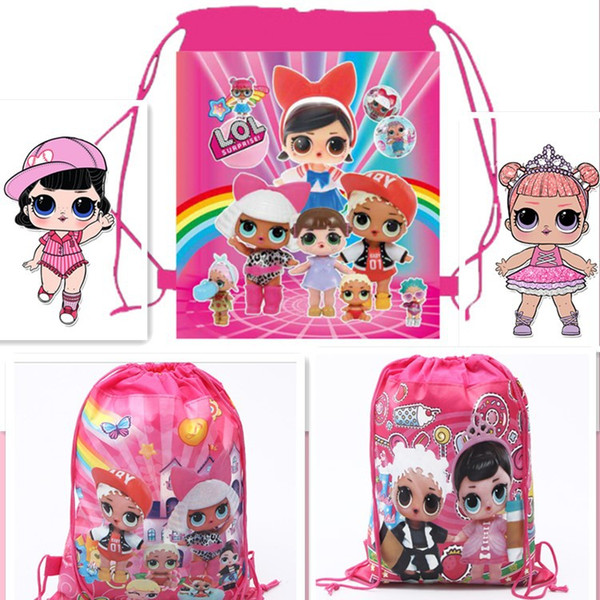 best selling Brand New Cartoon storage bags drawstring backpack kids toys receive package Cute Girls Swimming beach bag