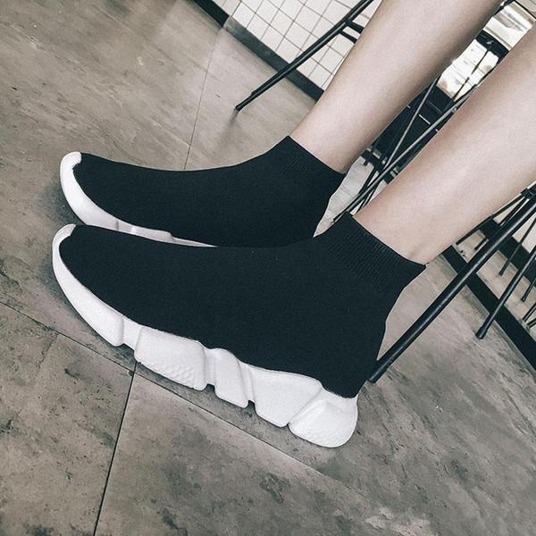 Scarpe calzino di lusso Scarpe casual Scarpe da ginnastica di alta qualità Scarpe da ginnastica di alta qualità Scarpe da corsa nere. Scarpe da donna