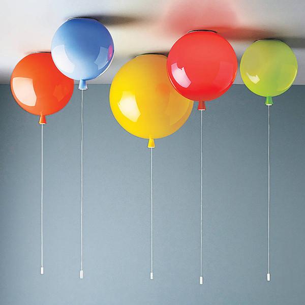 Renk Balon Duvar Lambası Tavan Lambası İskandinav Yaratıcı çocuk Odası Yatak Odası Koridor Işıkları LED Modern Minimalist Başucu Lambası