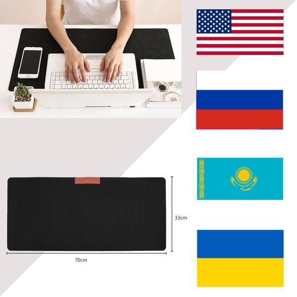 RS Keyboard Mouse Mat Non-slip Felt Hand Warmer Foldable for Office Computer Desk Mats Laptop Pads Q