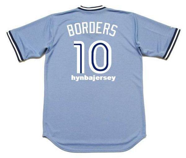 Cheap Custom PAT BORDERS Toronto Stitched 1988 Majestic Cooperstown Away Baseball Jersey Retro Mens Jerseys Running