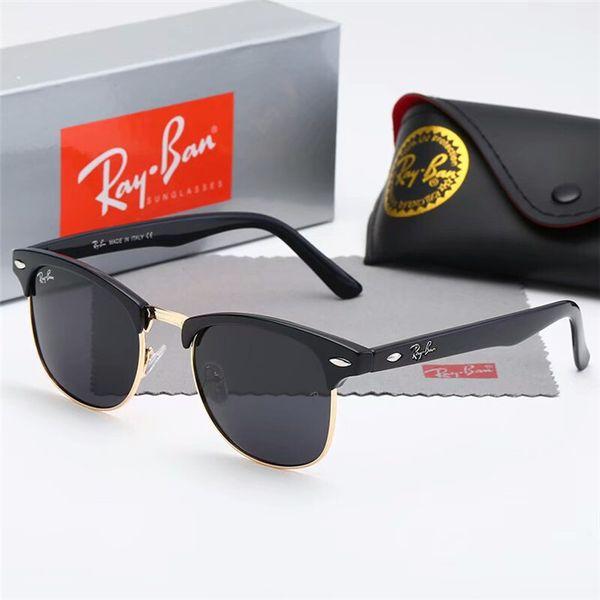 d0f6d00029237 Fashion Round Sunglasses Mens Womens Designer Brand Sun Glasses Gold Metal Black  Dark 50mm Glass Lenses