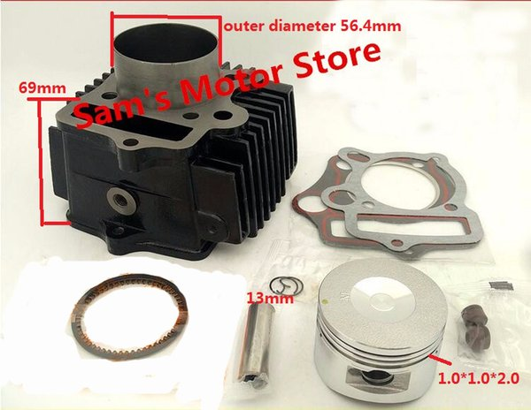 WS110/JH110 Modified Upgrade To Big Bore WS125/JH125 54MM Motorcycle Cylinder Kits With Piston And 13MM Pin