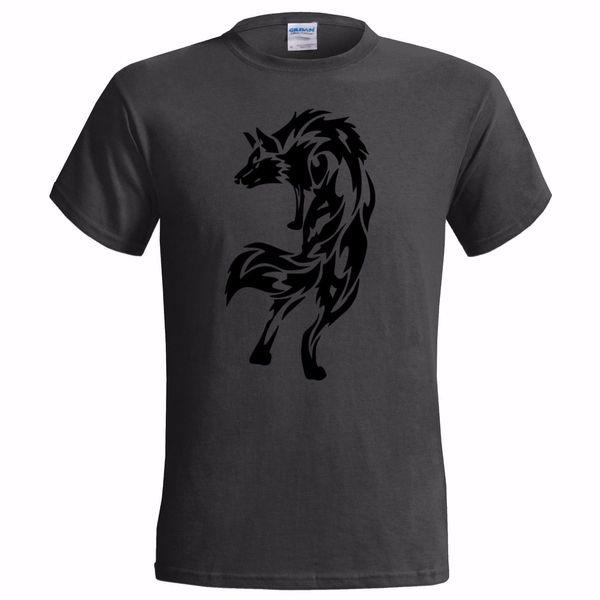 TRIBAL WOLF DESIGN MENS T SHIRT NATIVE AMERICAN SPIRIT INDIAN ART TATTOO cattt windbreaker Pug tshirt