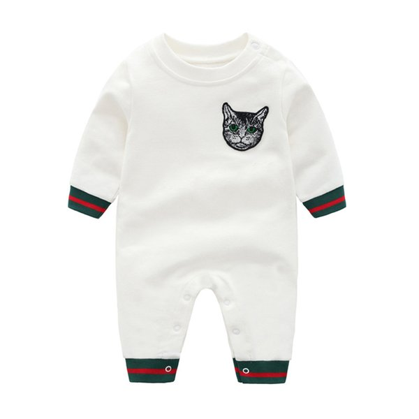 Infant Baby Warm Strampler Mode Niedlichen Katze Kopf Overall für Neugeborene Herbst Winter Baumwolle Baby Kinder Strampler
