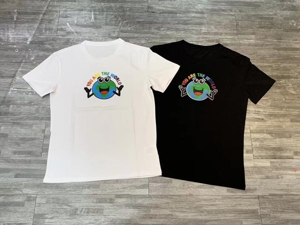 Cartoon earth stereo Crew neck printed Cotton short-sleeved T-shirt male loose casual fashion half-sleeved T-shirt 2019 new 01