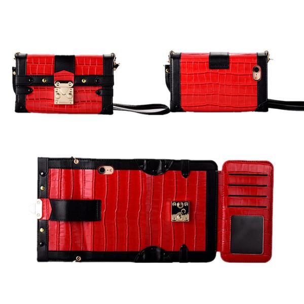 Crocodile Designer Crocodile Flip Wallet Etui en cuir pour IPhone X XS MAX XR 8 Plus