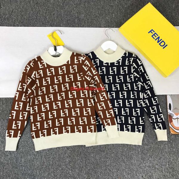 Enfants chandails enfants vêtements de créateurs automne garçons et filles pull de mode pull en cachemire laine tissu lettre couverte sweaternew