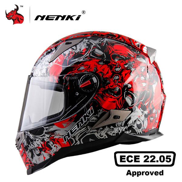 NENKI Motorcycle Helmet Men Motocross Racing Helmet Motorbike Full Face ECE Certification Moto Capacete De Moto