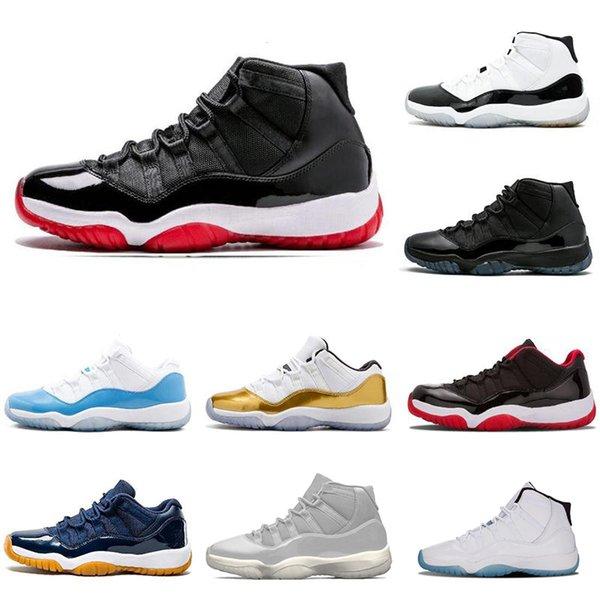 Neue Großhandel 11 11s Kappe und Kleid Herren Basketball Schuhe 72-10 Bred High Trainer Frauen Turnschuhe Sport Schuhgröße 5,5-13