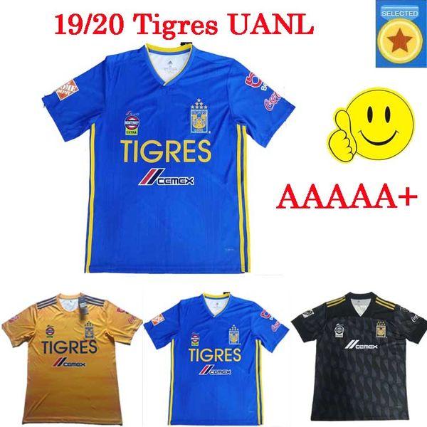 Liga MX 2019 2020 Tigres UANL Soccer Jerseys 7 stars C.SALCEDO VARGAS GIGNAC home away 3rd black 19 20 football shirt