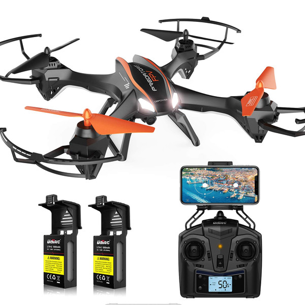 DBPOWER Predator U842 FPV Quadcopter Drone with HD Camera for Beginners and Kids, Big Size,Black,for Outdoor Use