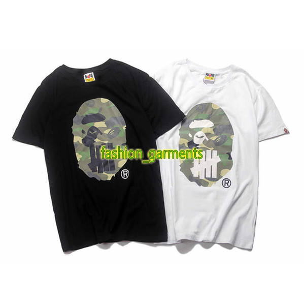 Fashion Mens Tide Brand Undefeated Short Sleeve Hip Hop Europe and America Undefeated Joint Short Sleeve Mens Designer Skateboard T-Shirt