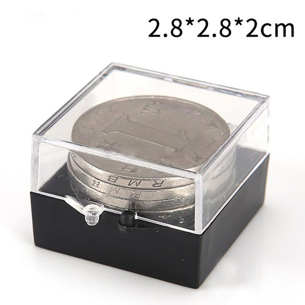 2.8*2.8*2cm Small Parts Transparent Plastic PP Boxes Jewelry Earring Ring Display Box Badge Sample Storage Packaging Box