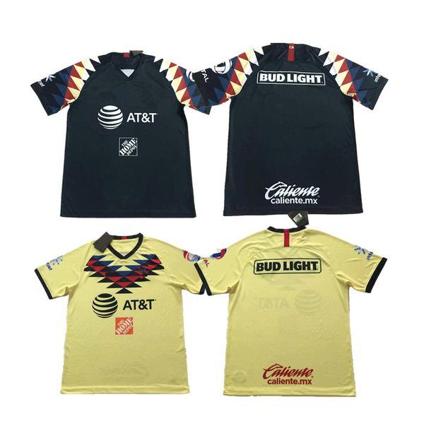 2019 2020 Messico American Club Soccer Jerseys DOMINGUEZ Home Giallo Away Nero Football Shirts messicano MENEZ P.AGUILAR Camisetas de fútbol