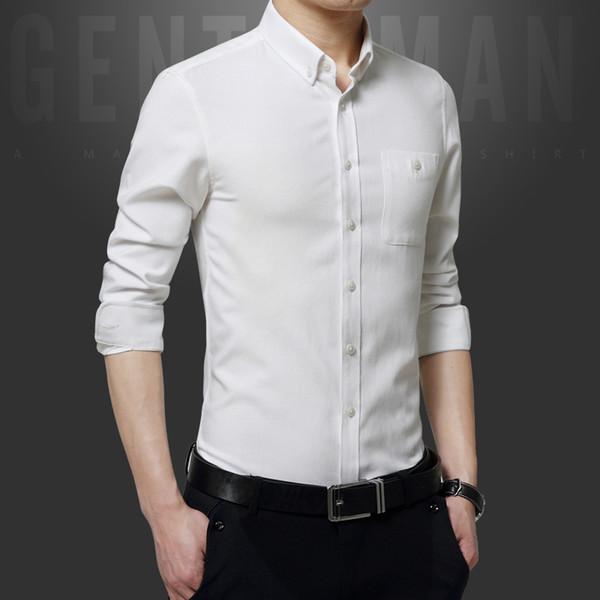 Pop2019 Spring Pattern Trend Cool Time Men's Korean Charm Joker Man Shirt Solid Color Self-cultivation Jacket