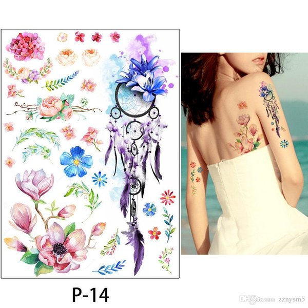 Waterproof Temporary Fake Tattoo Stickers Pink Horse Cartoon Design Kids Child Body Art Make Up ToolsBikini Decoration