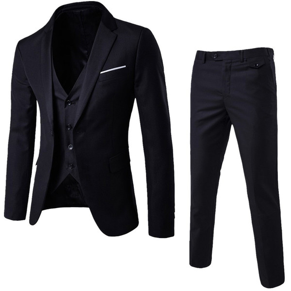 Lüks Erkekler Düğün Suit Erkek Blazers Slim Fit Erkekler 3-Piece Suit Blazer Slim Fit İş Düğün Ceket Ceket