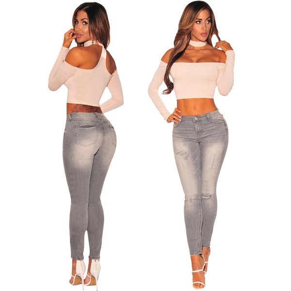 2019 Women jeans High Strength Water washed skinny jeans Ladies fashion New Style Leisure Bottom Jeans Wholesale 140#