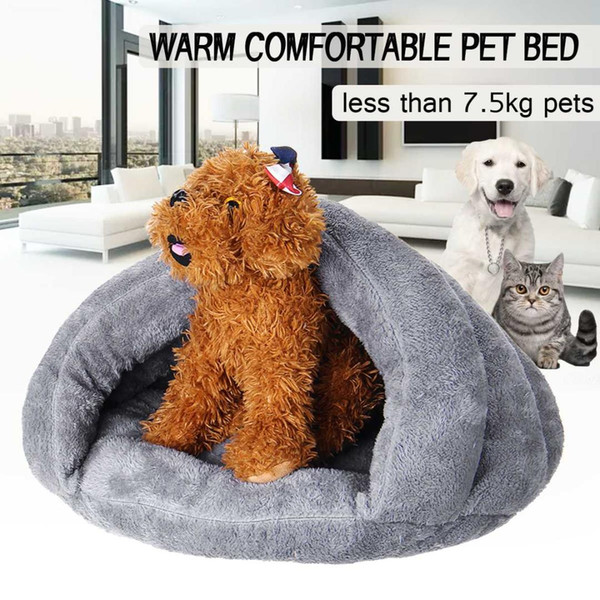 winter warm slippers style dog bed pet dog house lovely soft suitable cat bed house for pets cushion products