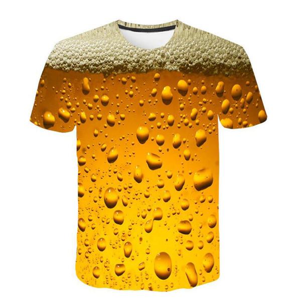 Summer T shirt men harajukuMen's New Fashion 3D Flood Printed Short-sleeved T-shirt Top Blouse camisetas hombre
