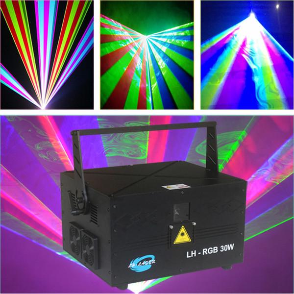 DMX512 di trasporto + colore completo SD Card RGB illuminazione laser della discoteca ILDA 30W per laser show indoor e outdoor