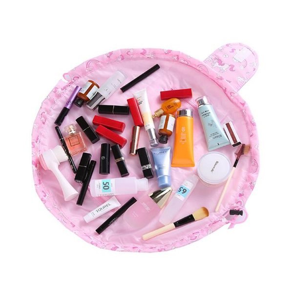Fashion Travel Cosmetic Bag Korean Version Oxford Cloth Girl Makeup Bags Drawstring Toiletry Bag Cosmetic For Make Up