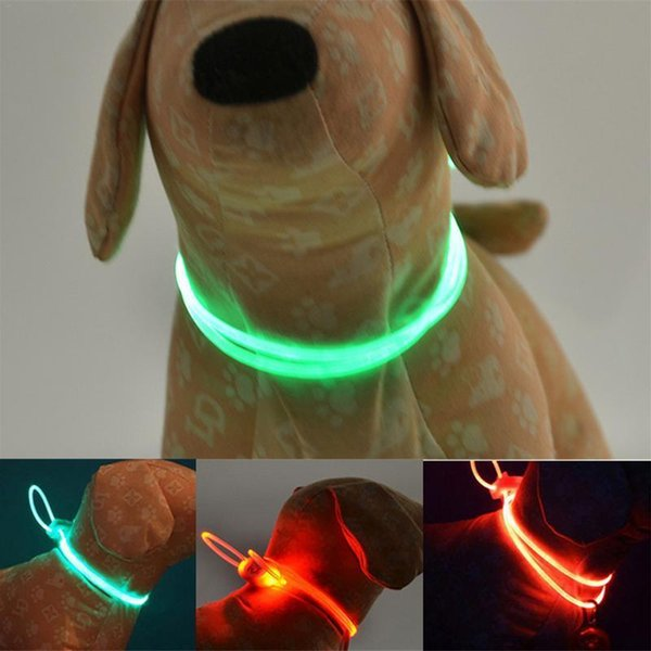 Led Pet Dog Collar Anti-lost Luminous Adjustable Pet Safety Collar Water Resistant Flashing Light Collar For Dogs Puppy At Night