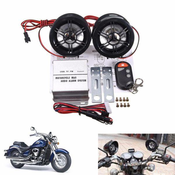 Мотоцикл Аудио Стерео FM MP3 спикер Анти Сигнализация USB с функцией Bluetooth DC 12V