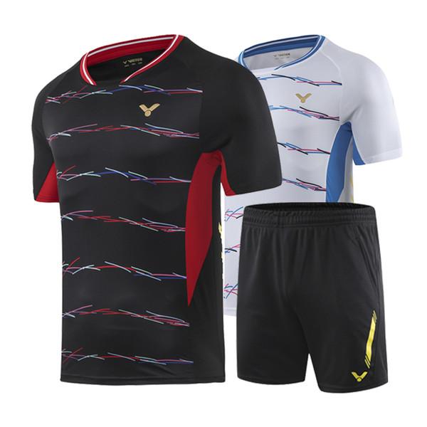 New Victory Badminton T-shirt, Men + Women Tennis T-shirt, National Team Badminton T-shirt, Quick Dry Sportswear, Table Tennis, Free Shippin