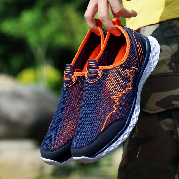 DISENGE Summer Outdoor Shoes Men Women Couples Mesh Breathable Beach Quick Dry Wading Upstream Fishing Net Water Shoes