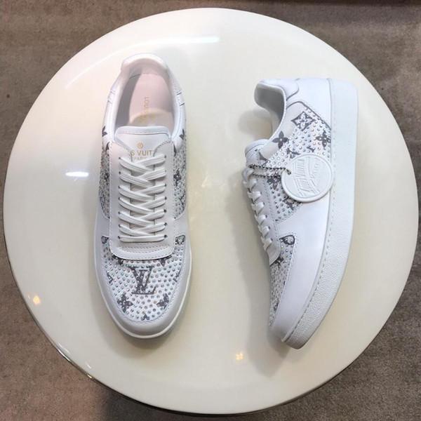 2019D nouveau luxe haute qualité casual chaussures pour hommes, chaussures de sport pour hommes de mode, chaussures de voyage en plein air pour hommes boîte d'origine taille d'emballage 38-45