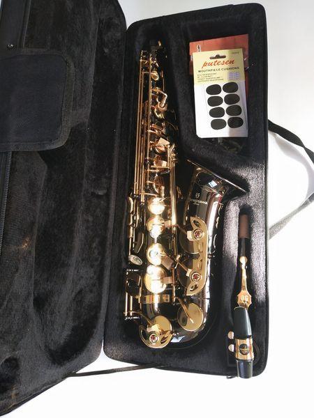 Yanagisawa Eb Alto Saxofón Música Japón Yanagisawa A-992 saxofón alto tocando instrumentos musicales negro profesional